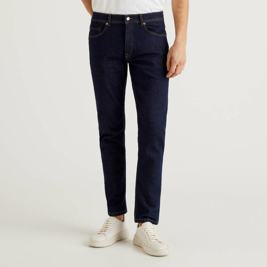 Slim Fit-Jeans mit fünf Taschen