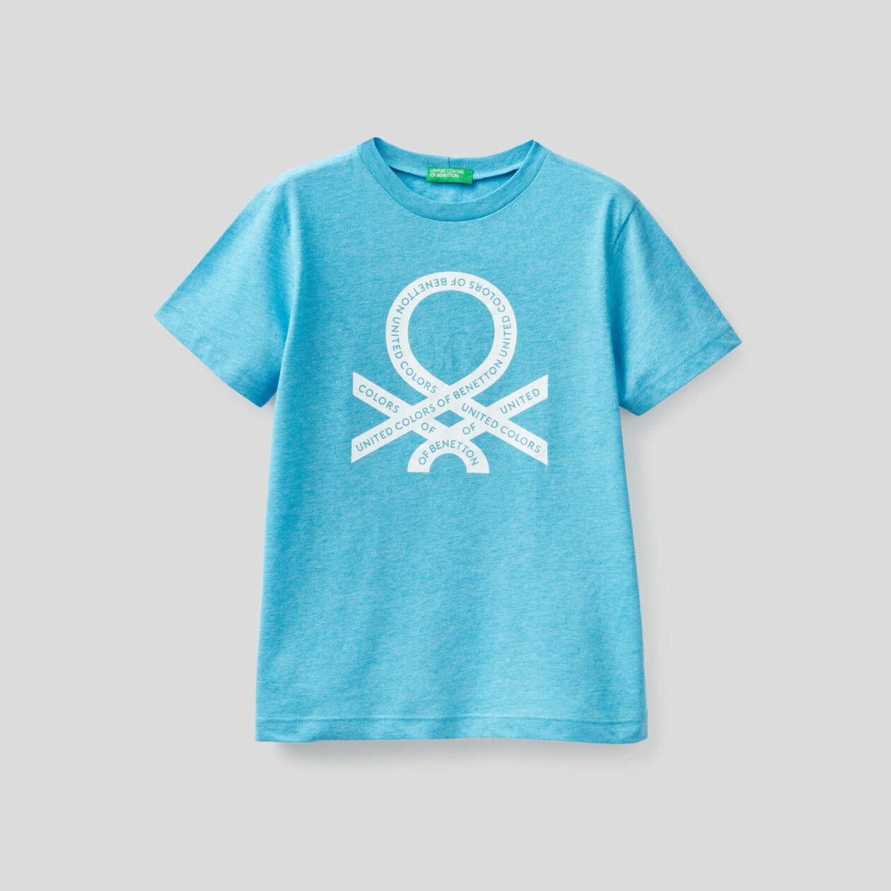 Neon t-shirt with logo print