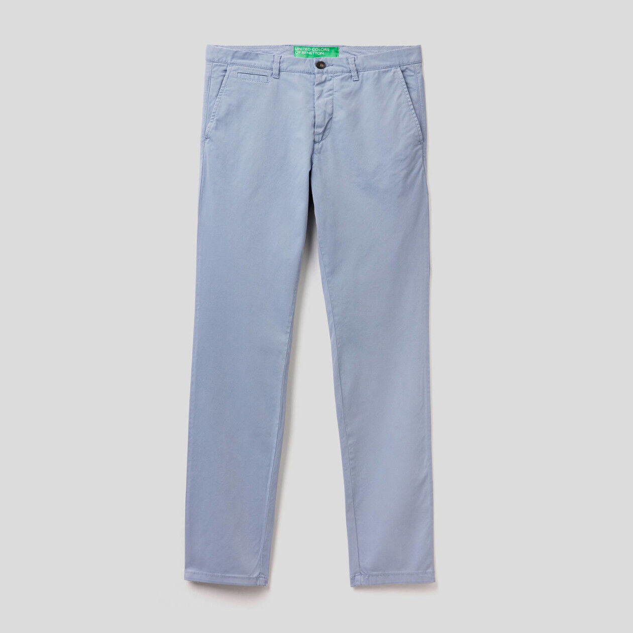 Light blue slim fit chinos