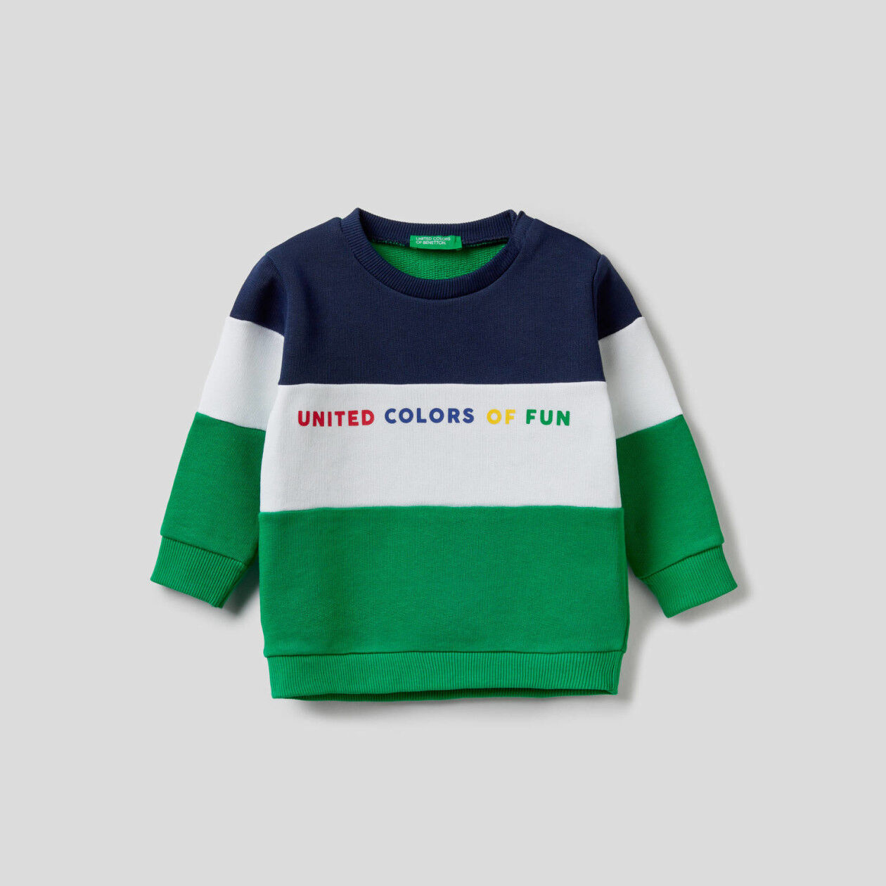 Sweatshirt aus Bio-Baumwolle mit Farbblöcken