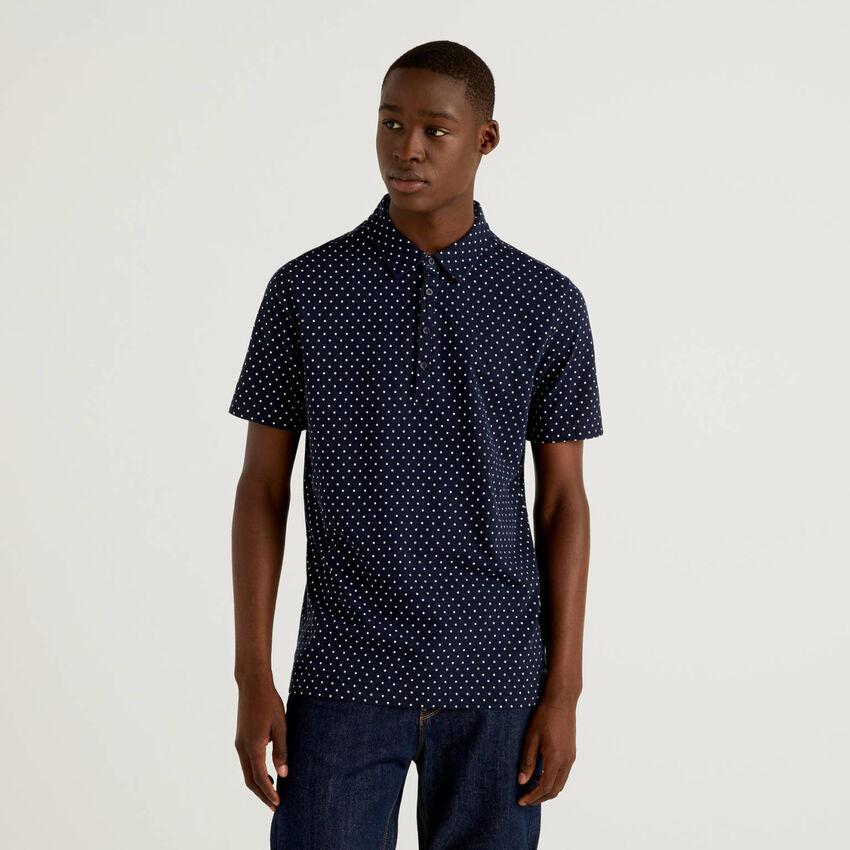 Polo à motifs 100% coton