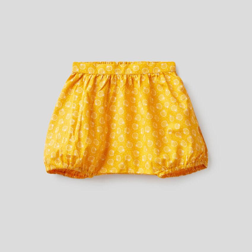 Shorts aus 100% Baumwolle mit Print