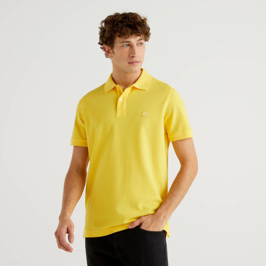Polo jaune coupe regular personnalisable