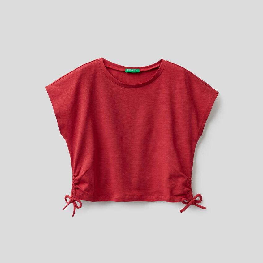 T-shirt en coton stretch avec noeuds