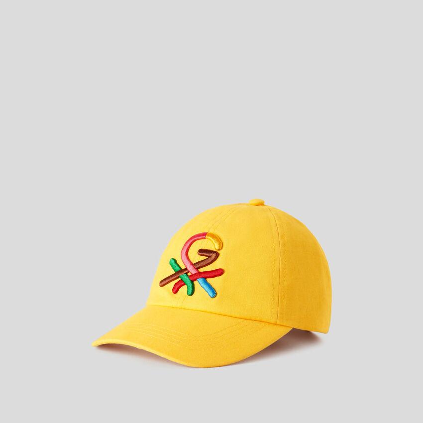 Casquette jaune à logo brodé by Ghali