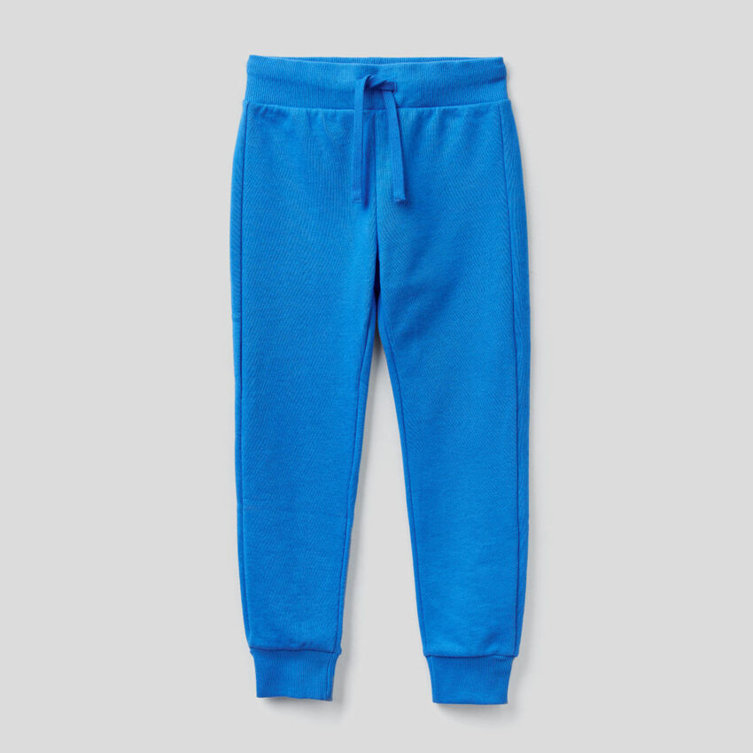 Jogging en molleton bleu