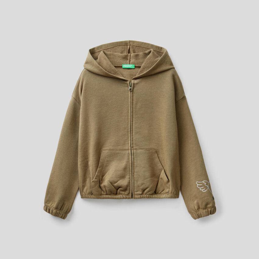 Cropped-Sweatshirt in 100% Baumwolle