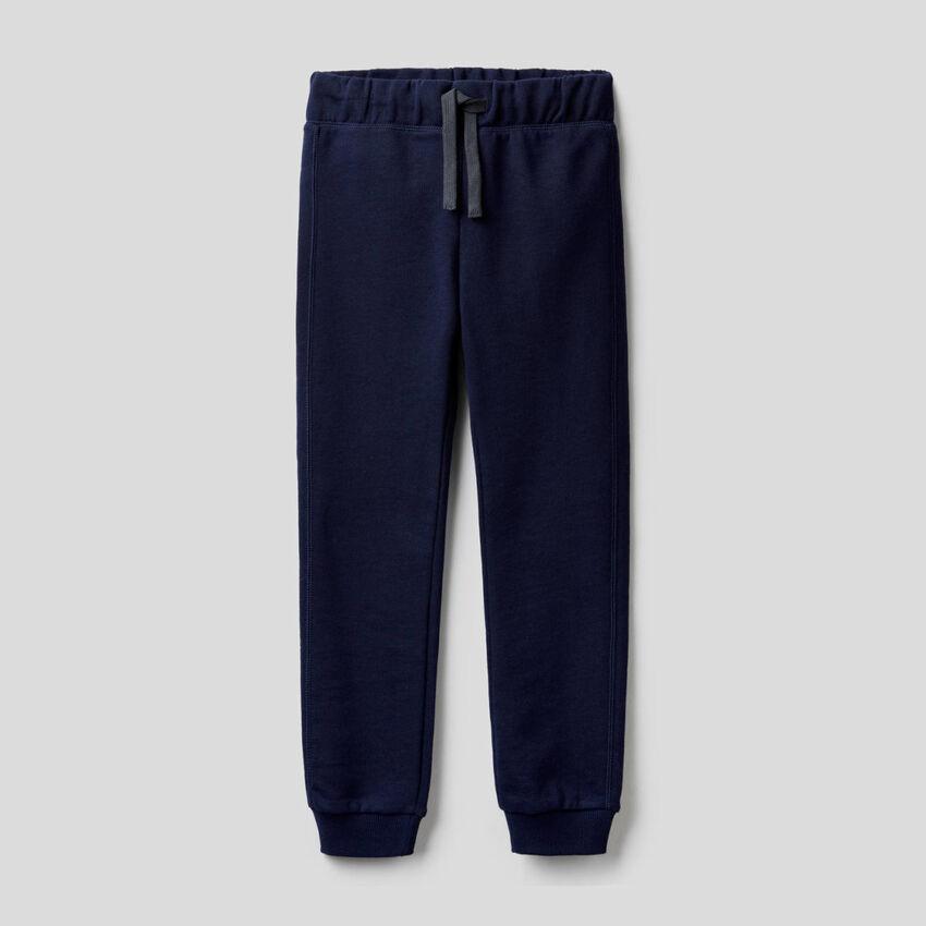 Dark blue 100% cotton sweatpants