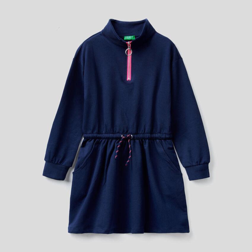 Kleid aus Sweatstoff in Bio-Baumwolle