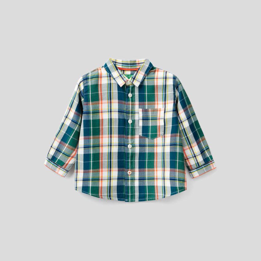 Chemise à carreaux 100% coton