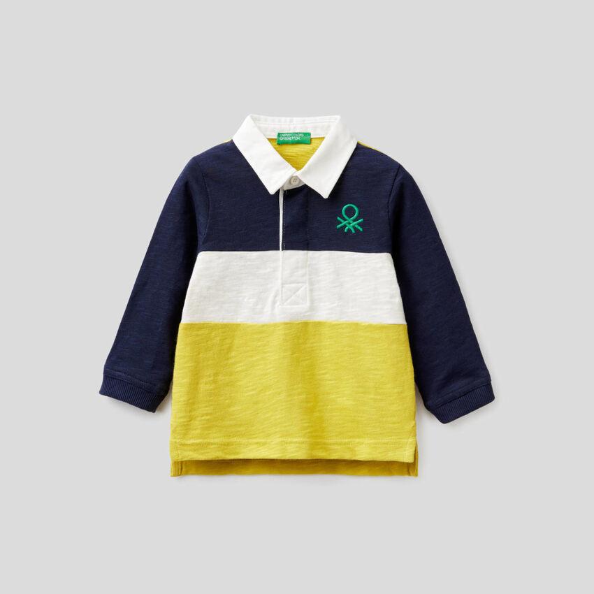 Polo rugby en 100% coton