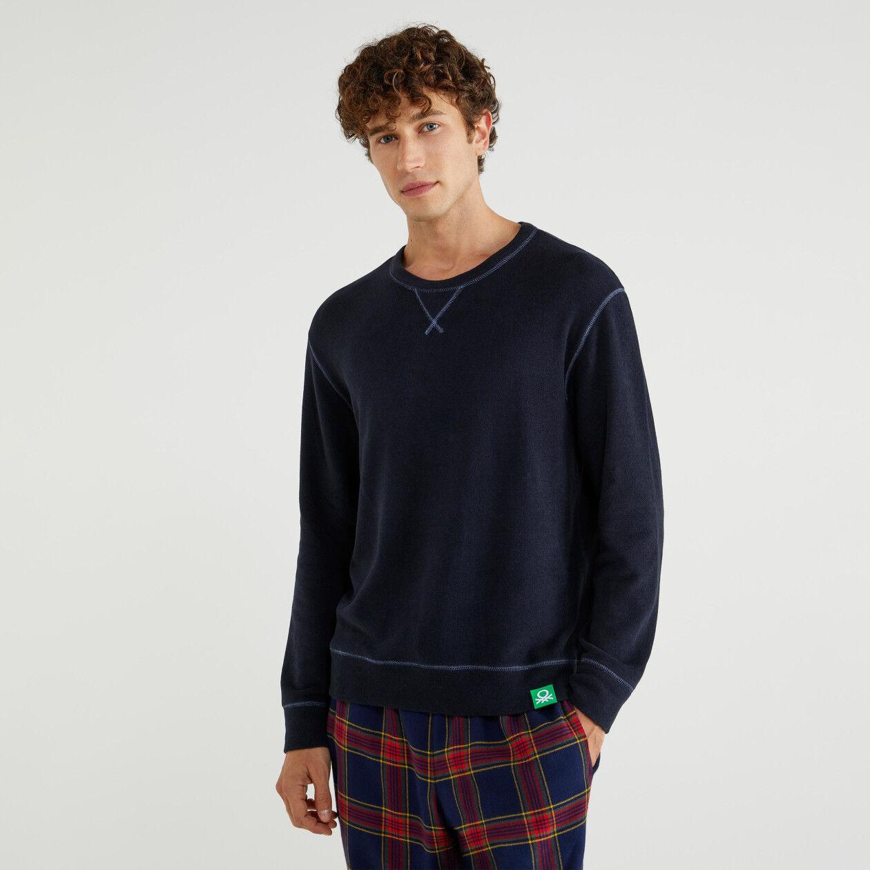 Pullover aus Jersey mit Rundausschnitt