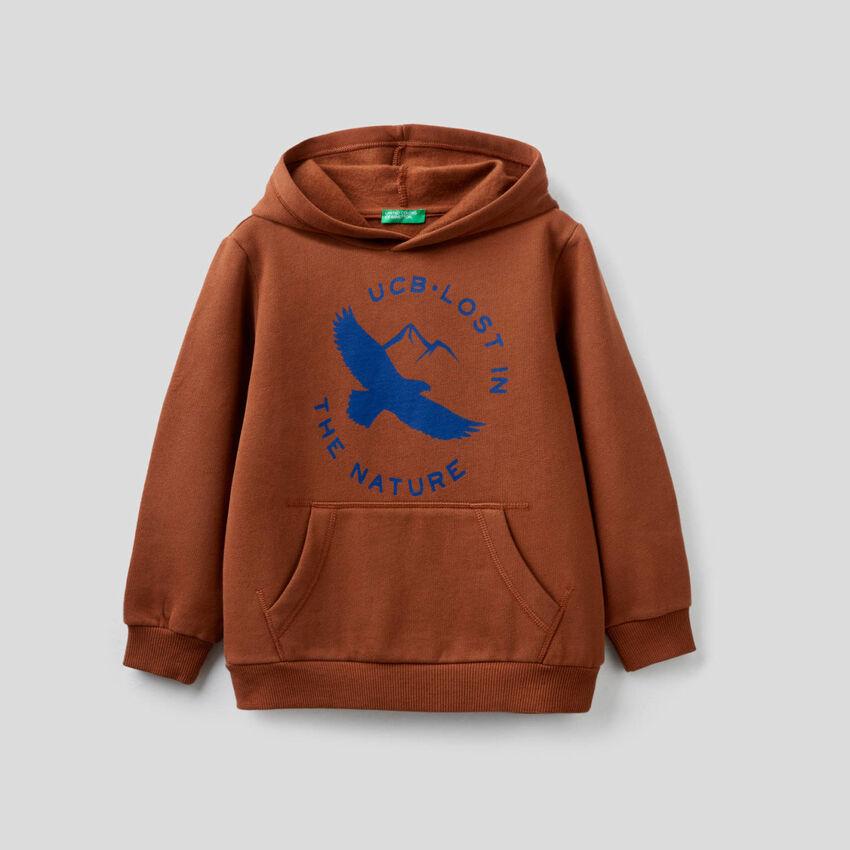 Sweatshirt mit Kapuze und Print