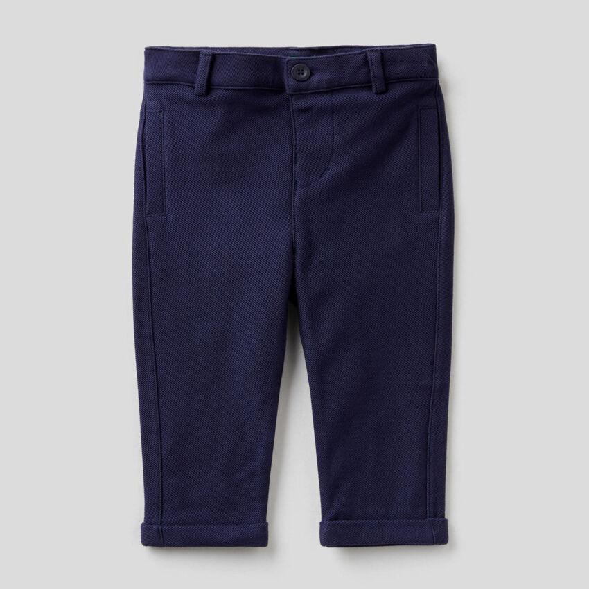 Pantalon élégant en molleton 100% coton