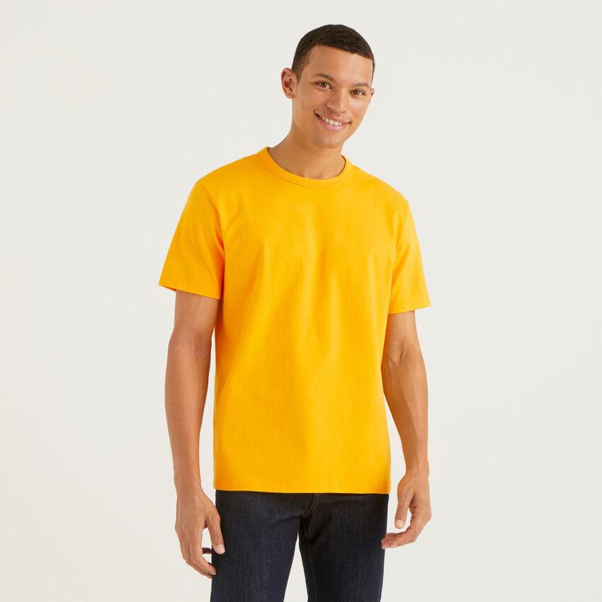 T-shirt col rond en pur coton