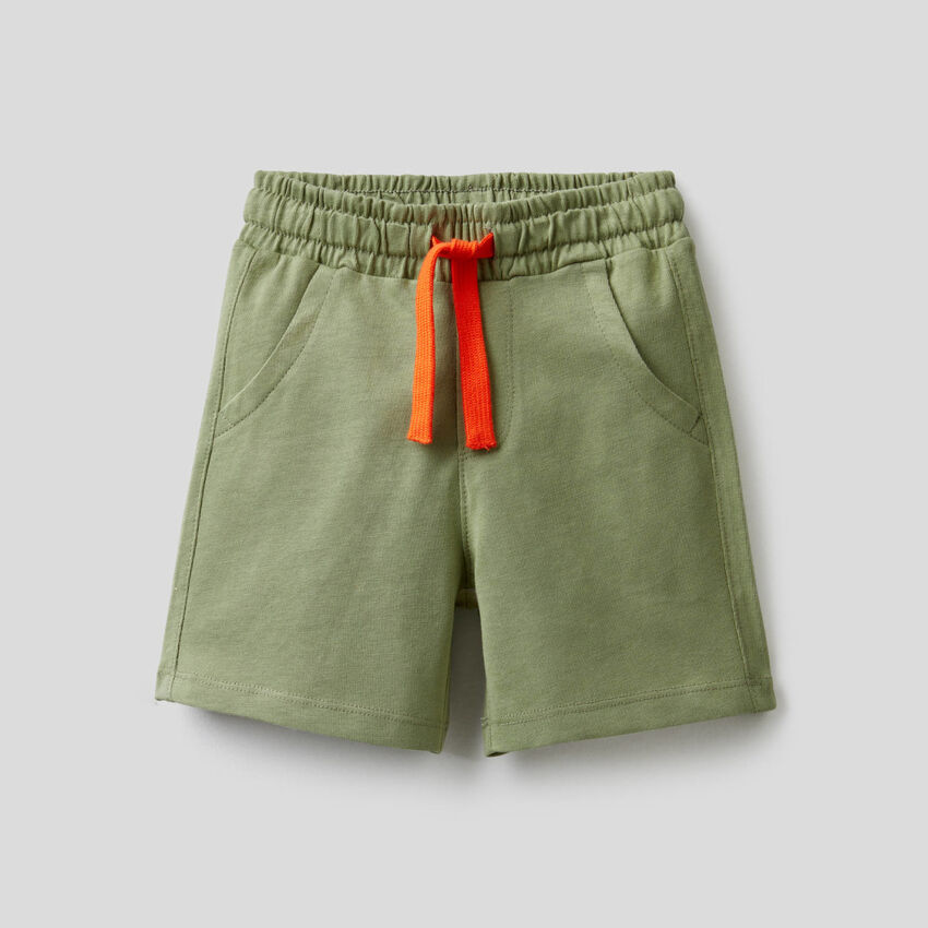 Yarn dyed shorts in pure cotton