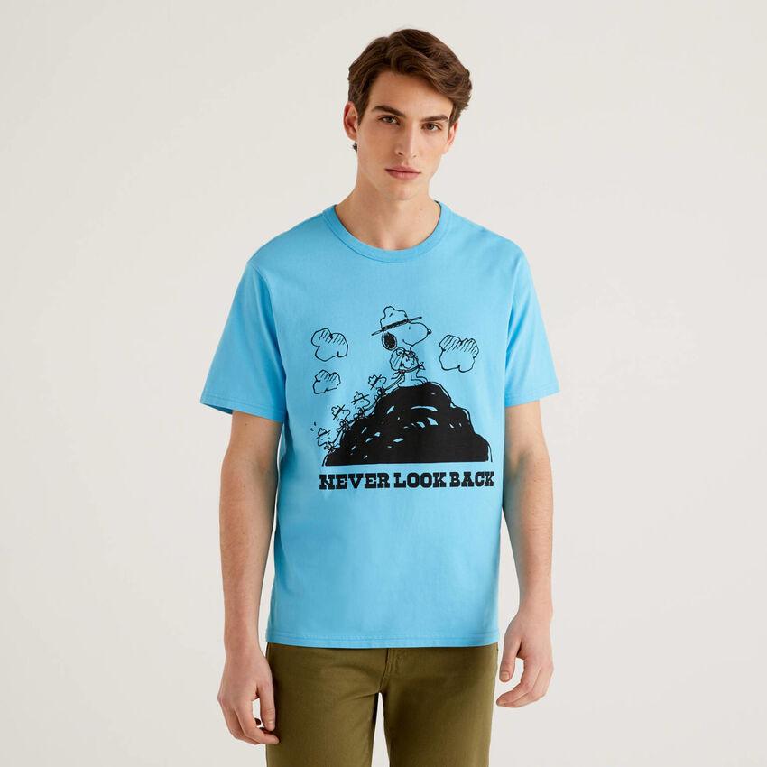 T-Shirt Peanuts in Hellblau