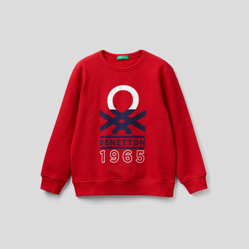 Sweatshirt mit aufgedrucktem Logo
