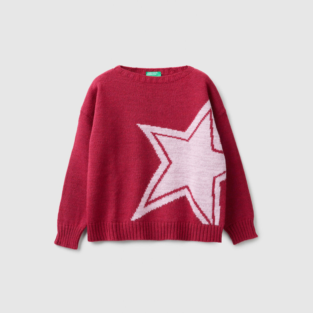 Sweater with lurex inlay
