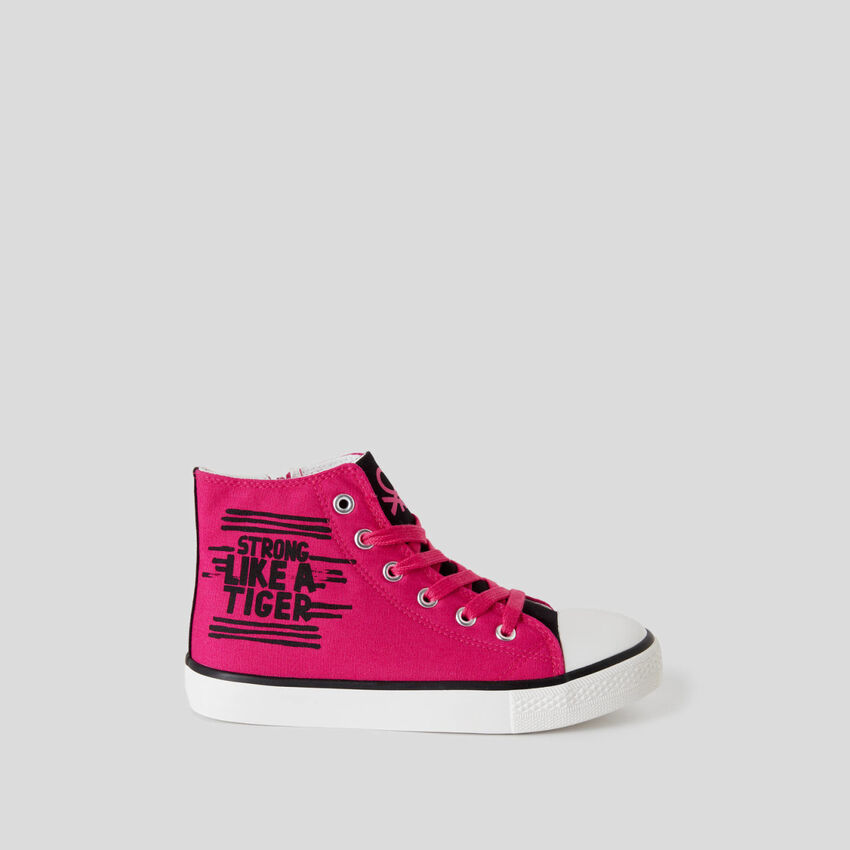 High-top sneakers with print