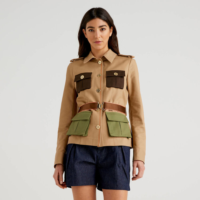 Saharan jacket in stretch cotton