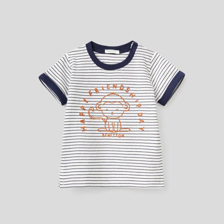T-shirt à rayures en pur coton bio