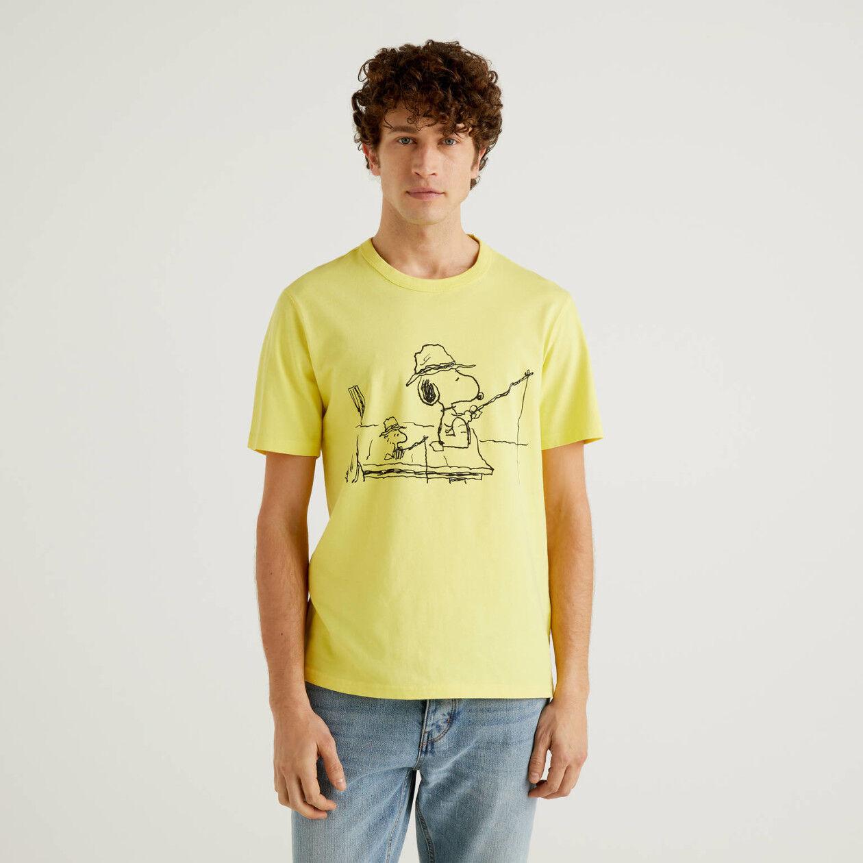 T-Shirt Peanuts in Gelb