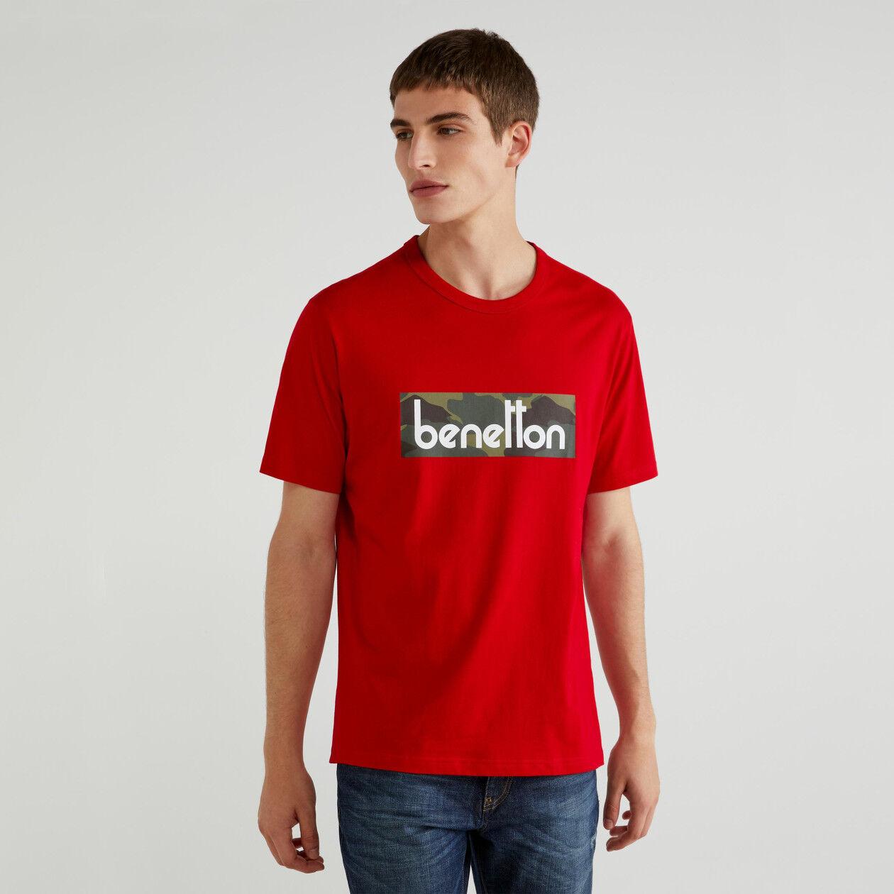 T-Shirt mit aufgedrucktem Logo