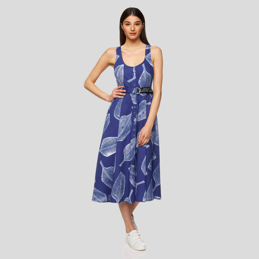 Robe all-over sans manches