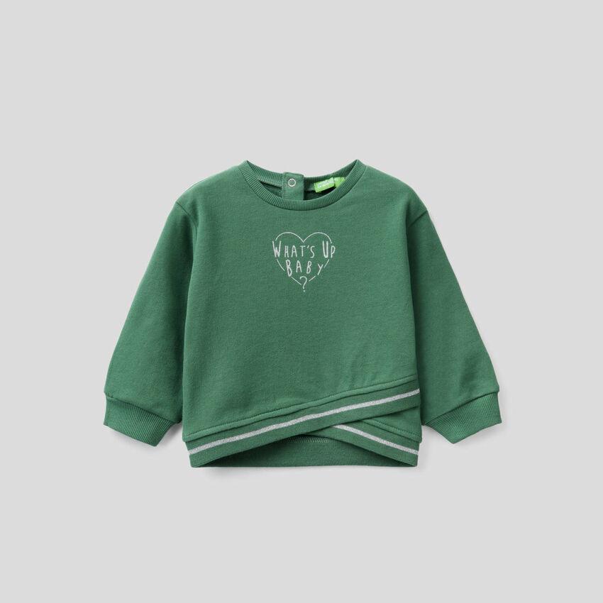 Sweatshirt mit überkreuztem Design