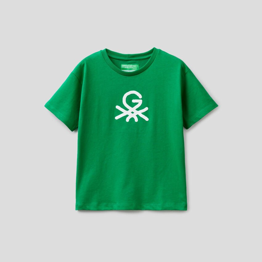 T-shirt unisexe vert avec imprimé by Ghali