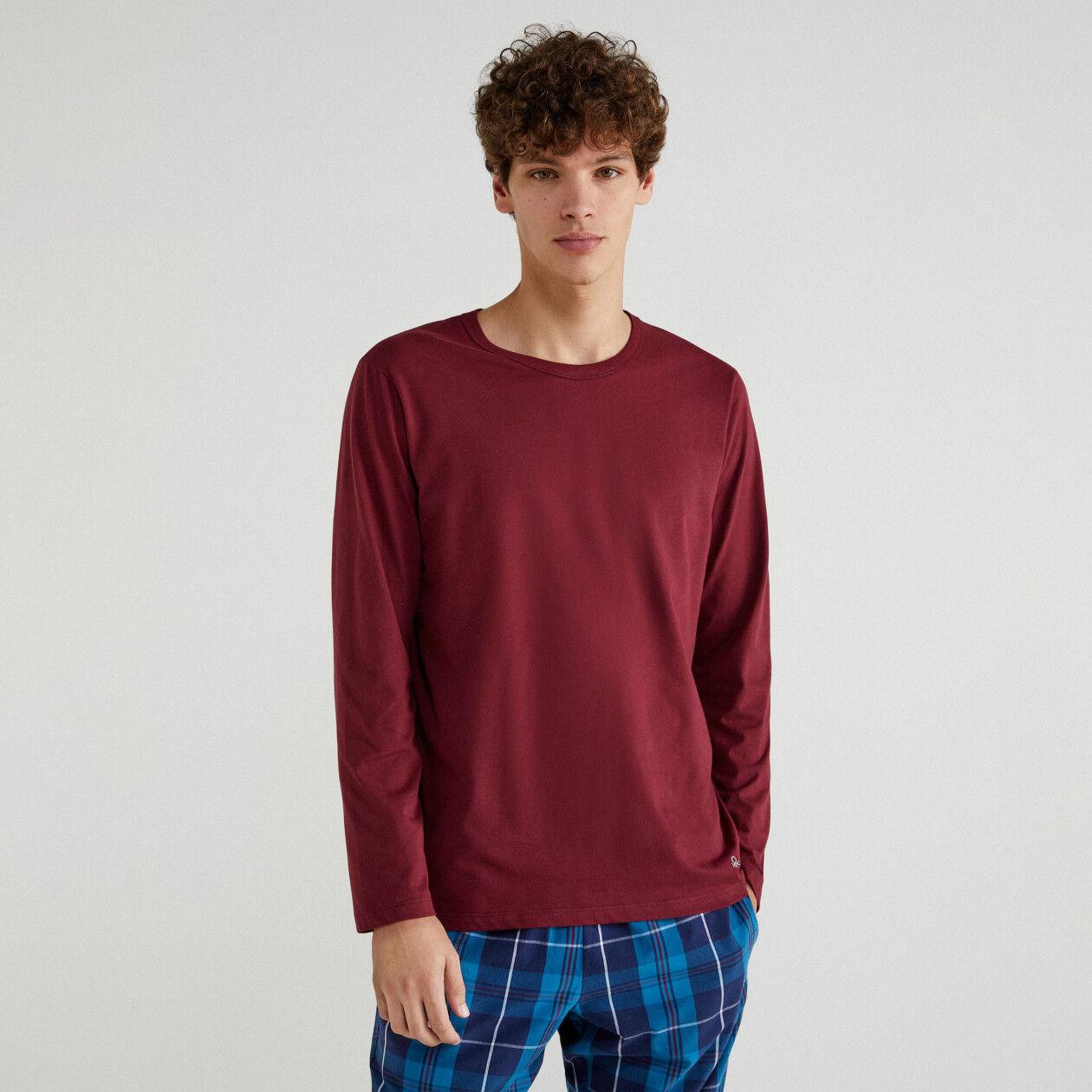 T-Shirt mit langen Ärmeln und Stickerei