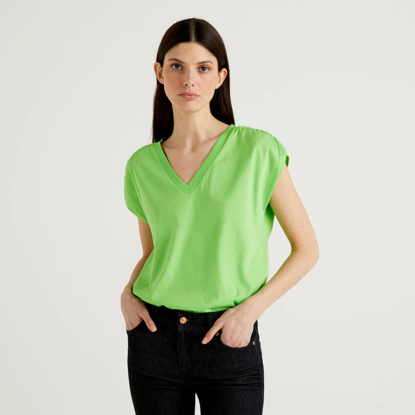 Short sleeve t-shirt in 100% cotton