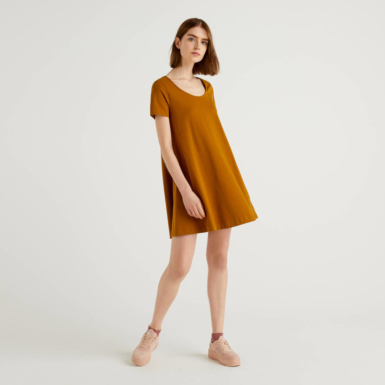Stretch cotton dress