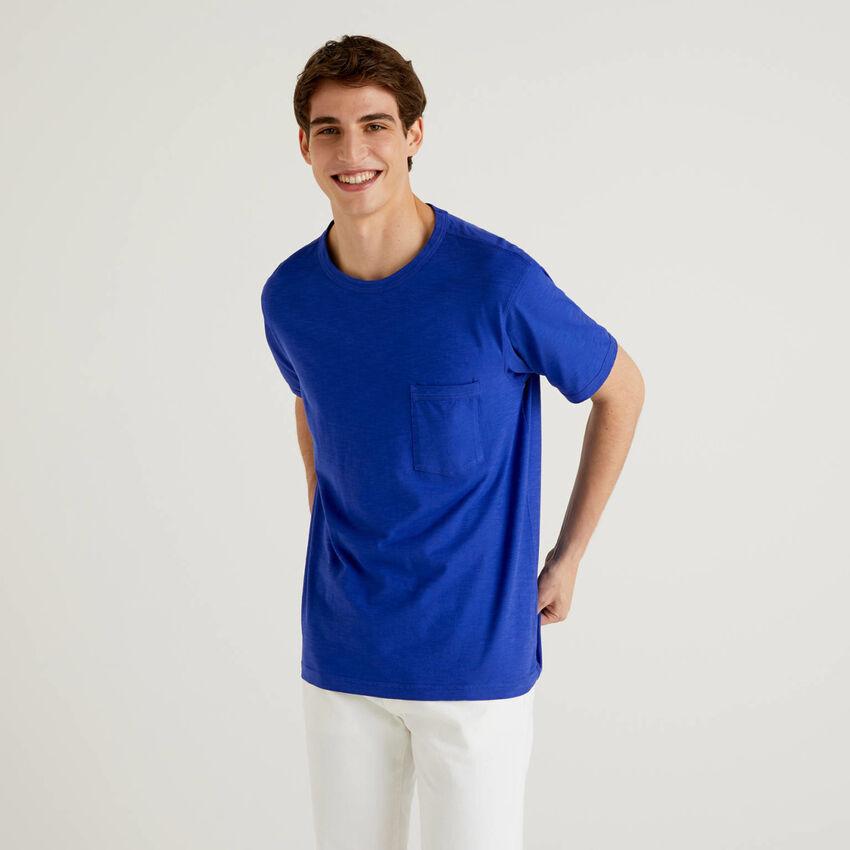 T-shirt en coton avec pochette