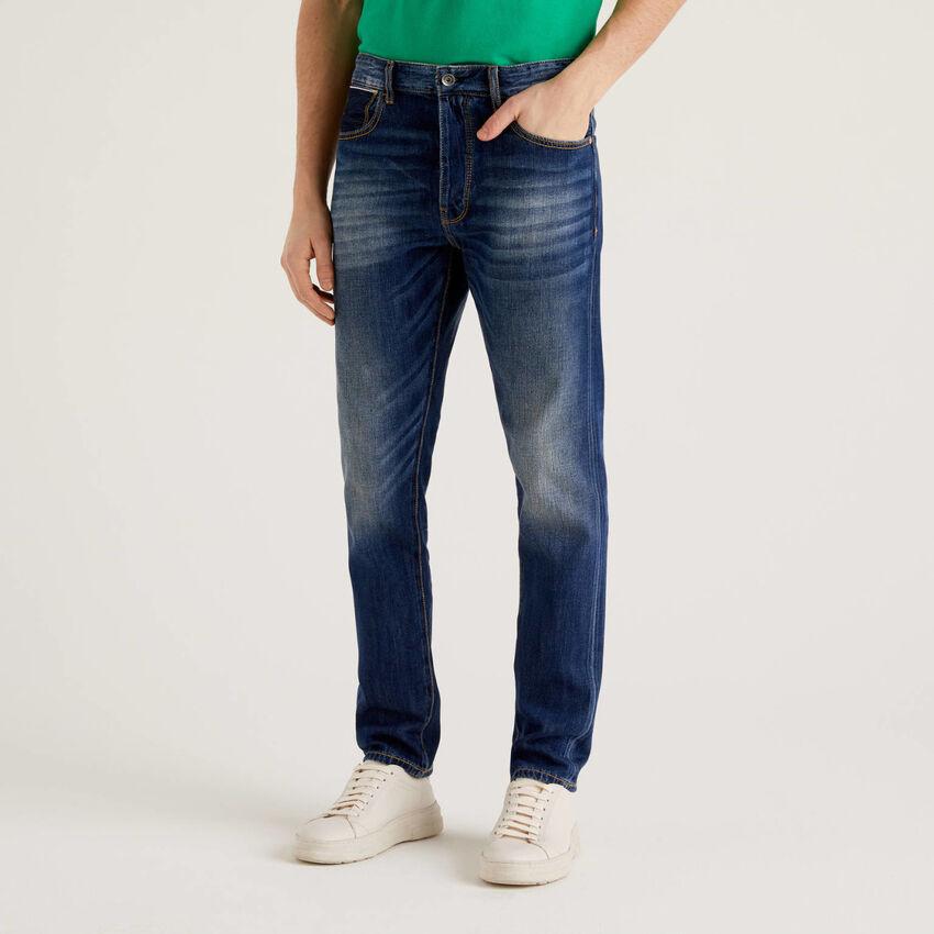 Five-Pocket-Jeans mit Used-Effekt