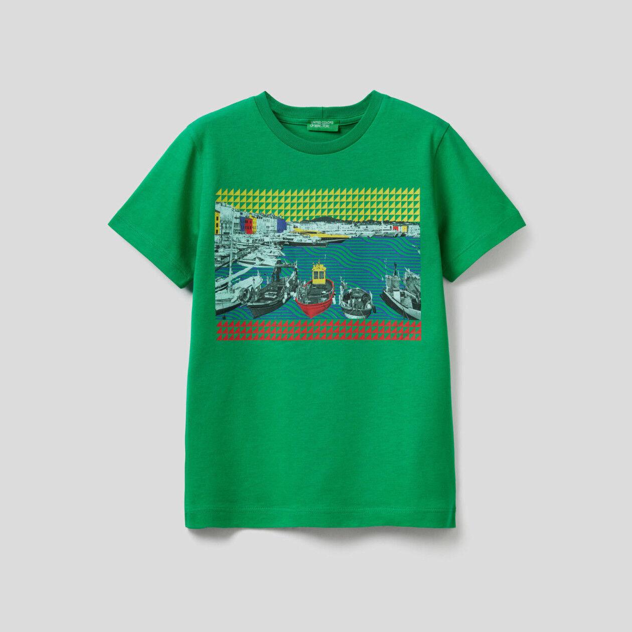 T-Shirt mit Landschaftsprint