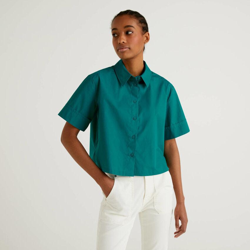 Boxy-Bluse aus 100% Baumwolle