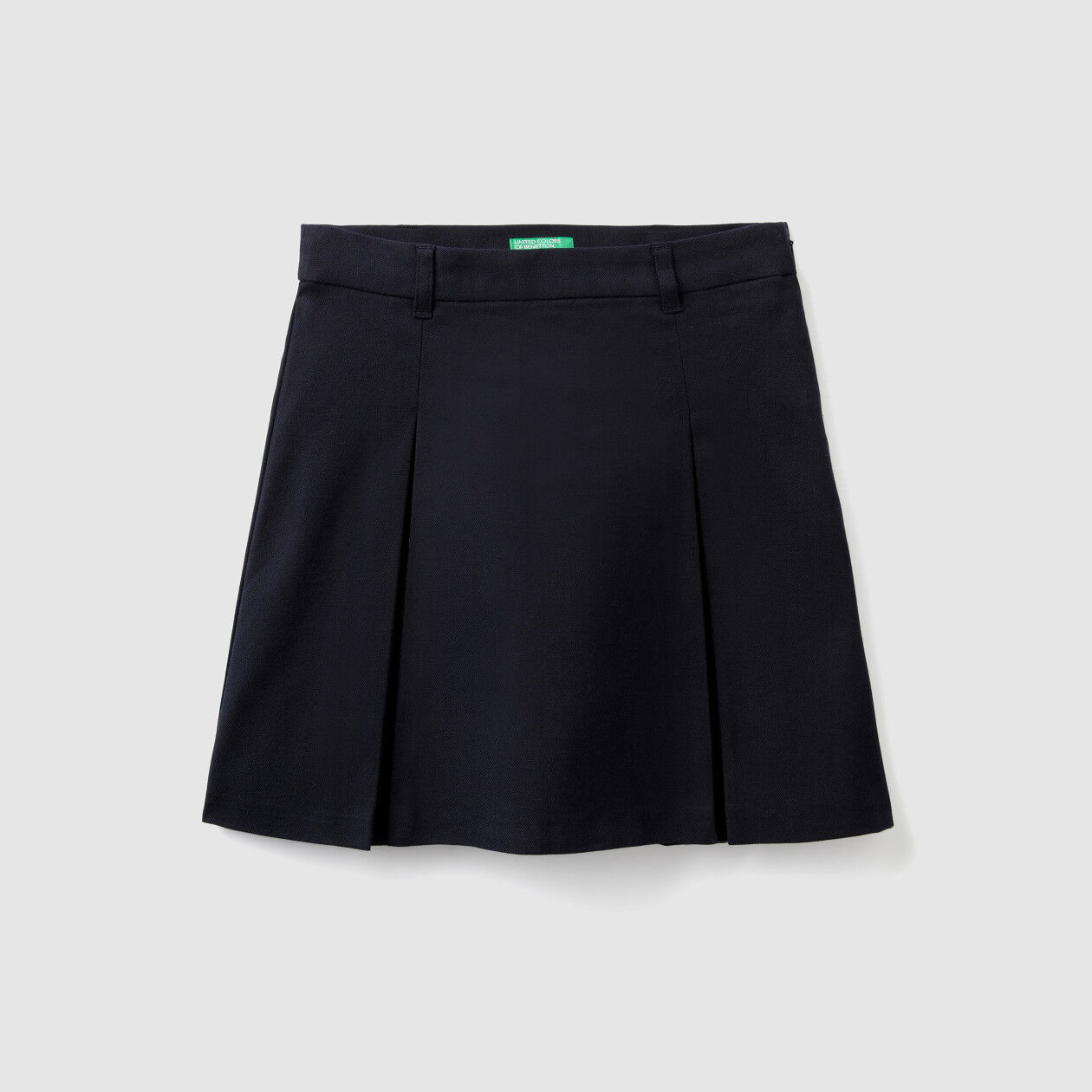 Skirt in stretch flannel