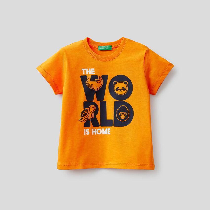 T-shirt en 100% coton avec imprimé