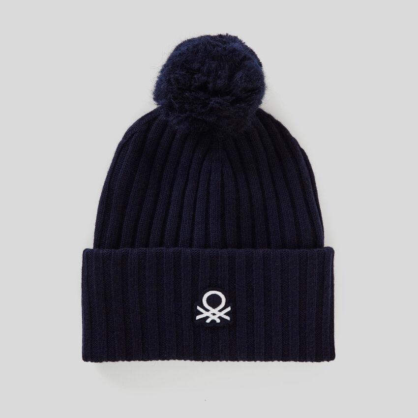 Mütze mit Logo und Pompon