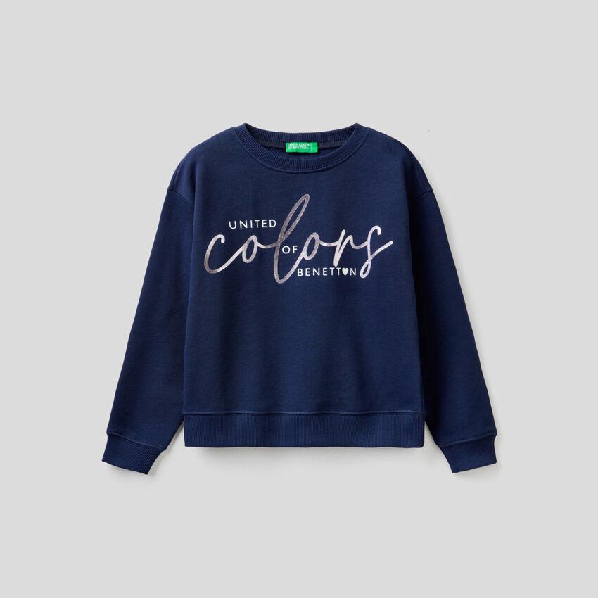 Sweatshirt aus 100% Baumwolle mit Logo