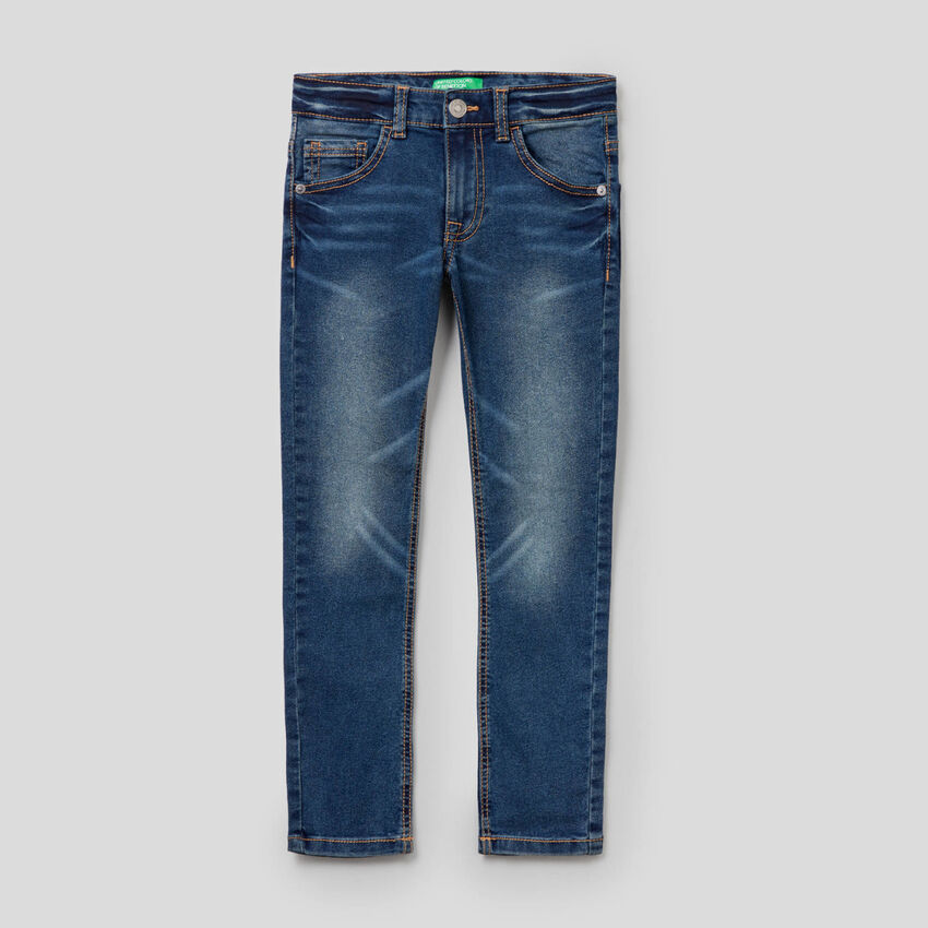 Jeans coupe skinny effet vintage