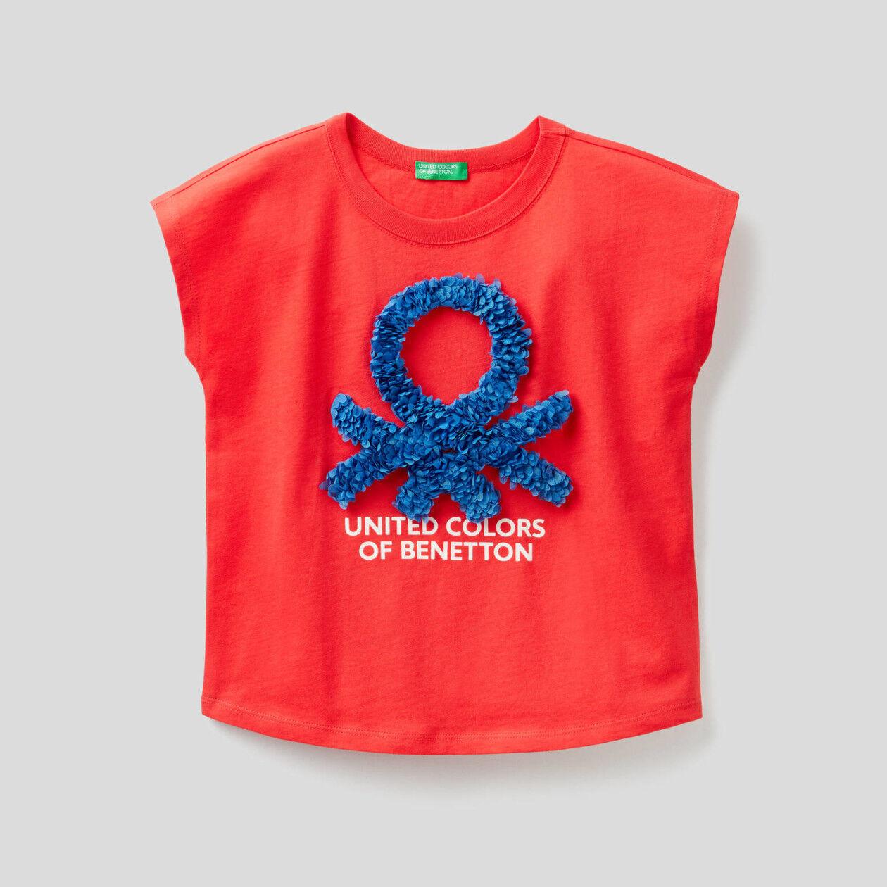 T-Shirt mit glitzerndem Logo