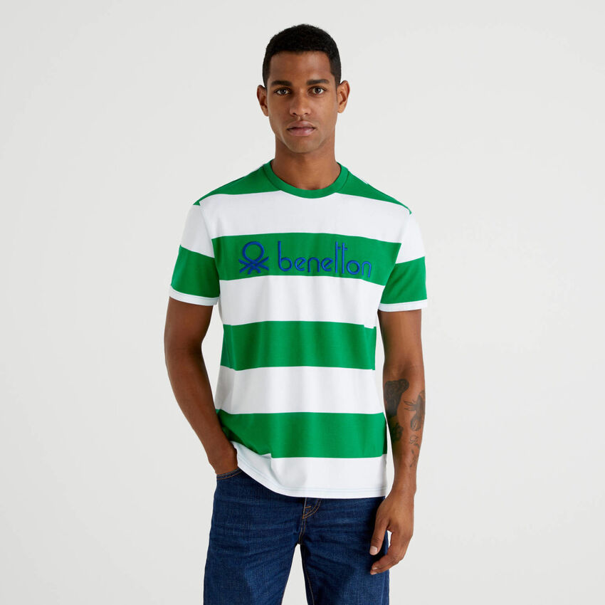T-shirt rayé en 100% coton bio
