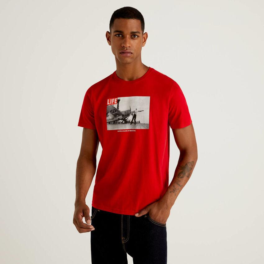 T-shirt Life en 100% coton bio