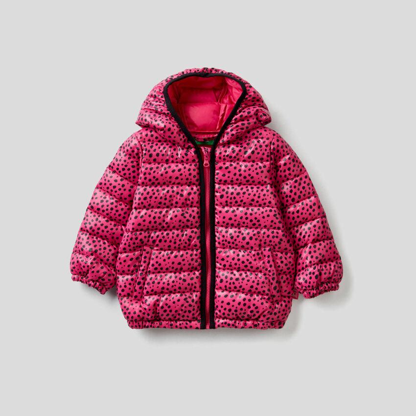 Jacke mit Kapuze und Musterprint