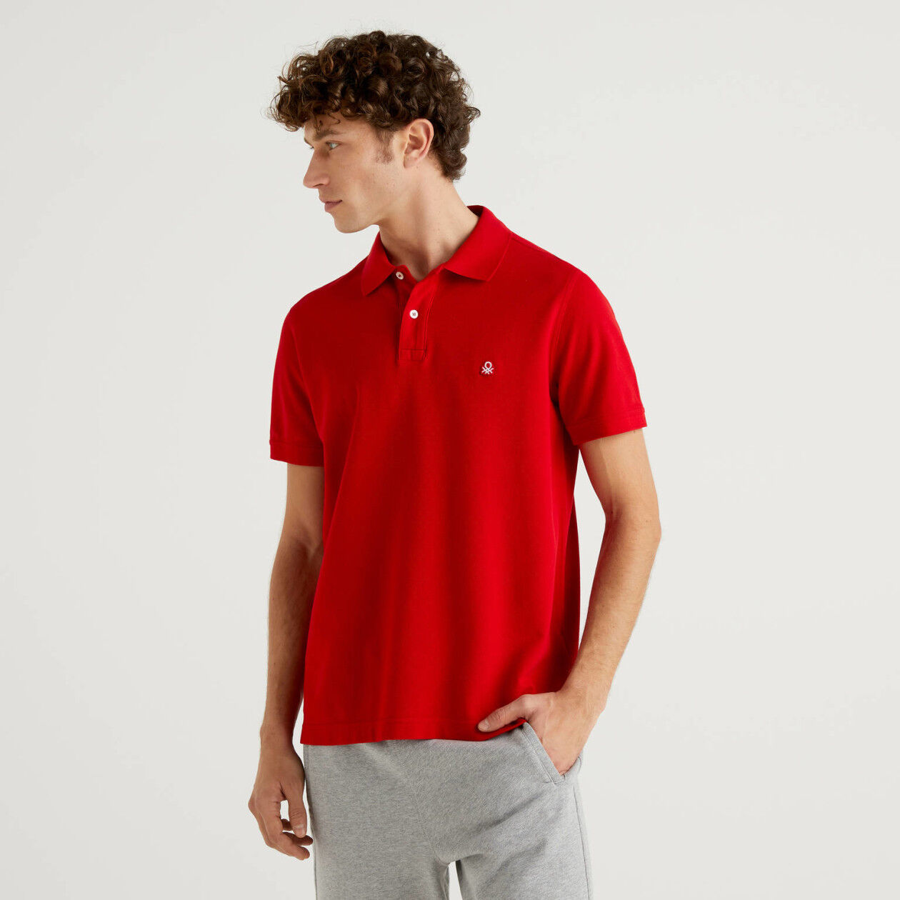 Rotes Regular-Fit-Polo
