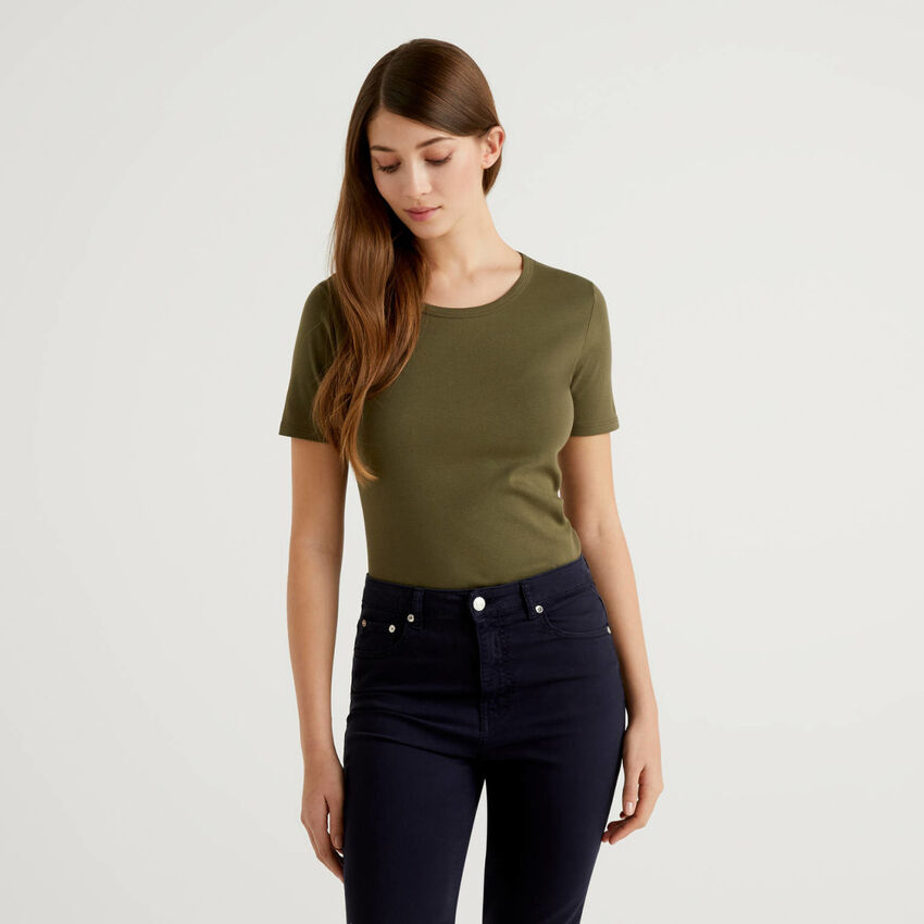 T-shirt personnalisable en coton à fibres longues