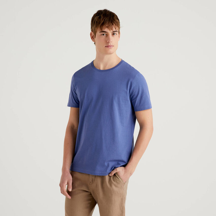 T-shirt bleu avio